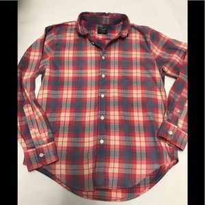 Abercrombie Men's large button up plaid shirt